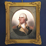 Washington Porthole Portrait Framed Ornament
